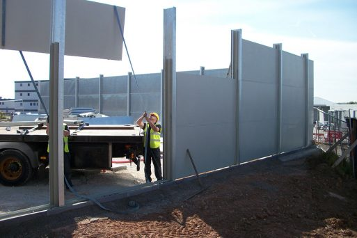 acoustic screen construction