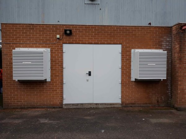 Bespoke Acoustic door and louvres