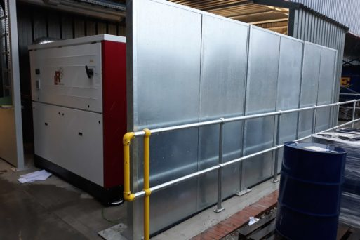 acoustic screen for construction sites
