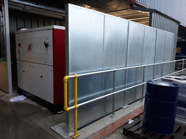 industrial acoustic screen for construction sites