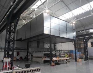 UPS Acoustic enclosure, glass toughening plant