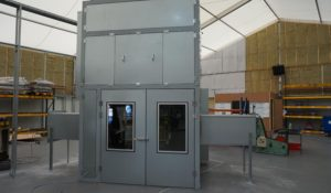 acoustic enclosure, automotive manufacturing site